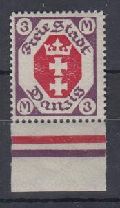 Danzig 1921 Wappen im 8-Eck Höchstwert 3 Mark Mi.-Nr. 86  postfrisch **