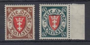 Danzig 1935 Staatswappen Werte 40 und 60 Mi.-Nr. 243-44 postfrisch **