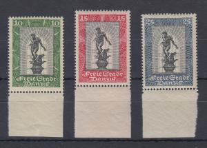Danzig 1929 Neptunbrunnen Mi.-Nr. 217-219 Satz 3 Werte kpl postfrisch **