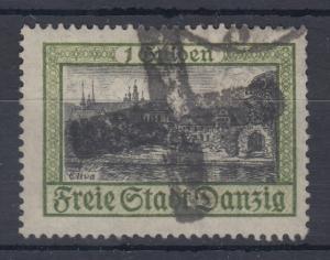 Danzig 1924 Freimarke 1 Gulden mit Plattenfehler bei