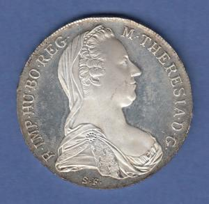 Österreich Maria Theresia-Taler. Masse 28,06g, Silber Ag833, 40mm