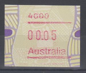 Australien Frama-ATM Aboriginal-Art mit Postcode 4000 **