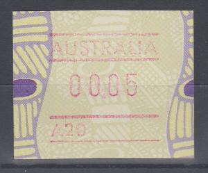 Australien Frama-ATM Aboriginal-Art mit Automatennummer A20 **
