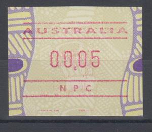 Australien Frama-ATM Aboriginal-Art mit Automatennummer NPC **
