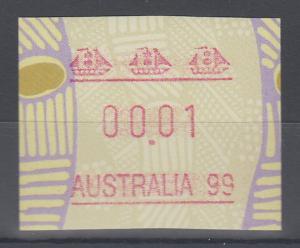 Australien Frama-ATM Aboriginal-Art Sonderausgabe Australia 99 ** Linie lang