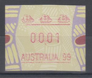 Australien Frama-ATM Aboriginal-Art Sonderausgabe Australia 99 ** Linie kurz
