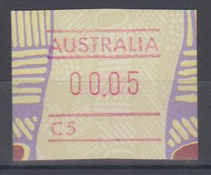 Australien Frama-ATM Aboriginal-Art mit Automatennummer C5 **