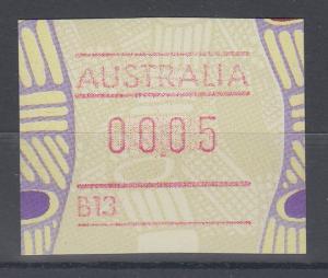 Australien Frama-ATM Aboriginal-Art mit Automatennummer B13 **