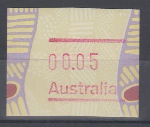 Australien Frama-ATM Aboriginal-Art Fehlverwendung ohne Postcode **