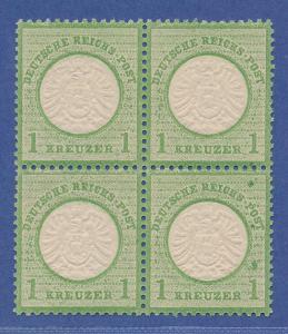 Dt. Reich großer Brustschild, Mi.-Nr. 23a Luxus-Viererblock mit Druckfehler **