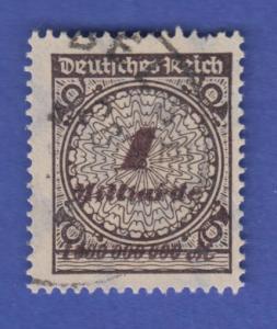 Dt. Reich Infla Mi-Nr. 325APb PLATTENDRUCK schwarzbraun gestempelt.  RRR !