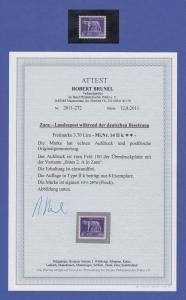 Dt. Besetzung 2.WK, Zara Mi.-Nr. 14 II k (fettes a) **, gepr. mit Attest Brunel