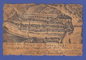 AK Österreich Steyr im Jahr 1584, auf alt gemachte hübsche Karte,  gel. 1908