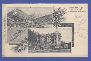 AK Österreich Luftkurort Igls , gelaufen 1908