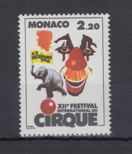 Monaco 1986  Mi.-Nr. 1776  ** Zirkus-Festival Monte Carlo