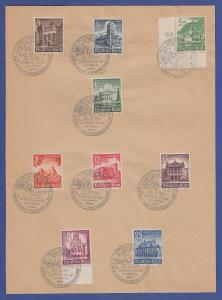 Dt.Reich Mi.-Nr. 751-59 kpl. Satz mit WHW-Sonder-O Kattowitz Oberschlesien 1941