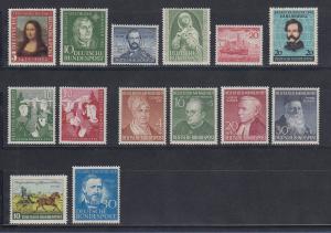 Bundesrepublik: alle Briefmarken des Jahrgangs 1952 komplett postfrisch !