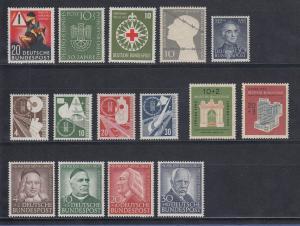 Bundesrepublik: alle Briefmarken des Jahrgangs 1953 komplett postfrisch !