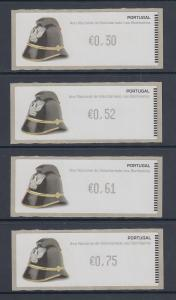 Portugal ATM Feuerwehr 2008 Druck Monetel Mi.-Nr 63 , Satz 30-52-61-75 **