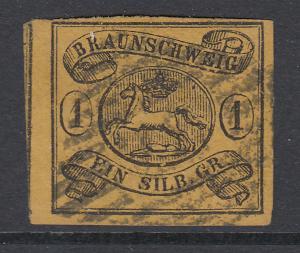 Altdeutschland Braunschweig Mi.-Nr. 6a gestempelt