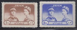 Persien / Iran 1961 Besuch von Königin Elizabeth II.  Mi.-Nr. 1088-89 **