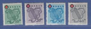 Französische Zone, Baden Rotes Kreuz Mi.-Nr. 42-45A Serie kpl. postfrisch **