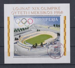 Albanien 1968 Olympische Spiele Mexiko, Mi.-Nr. Block 33 A gestempelt