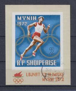 Albanien 1972 Olympische Spiele München, Mi.-Nr. Block 42 gestempelt