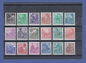 DDR 1953, Dauerserie 5-Jahresplan Bdr. Mi.-Nr. 405-22 kpl. Satz  **