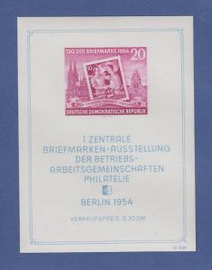DDR 1954, Blockausgabe Briefmarken-Ausstellung, Mi.-Nr. Block 10 postfrisch **