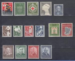 Bundesrepublik: Briefmarken-Jahrgang 1953 komplett postfrisch !  SONDERPREIS