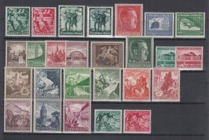 Deutsches Reich: alle Briefmarken des Jahrgangs 1938 komplett postfrisch **