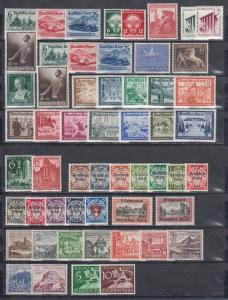Deutsches Reich: alle Briefmarken des Jahrgangs 1939 komplett postfrisch **