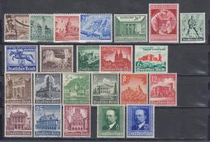 Deutsches Reich: alle Briefmarken des Jahrgangs 1940 komplett postfrisch **