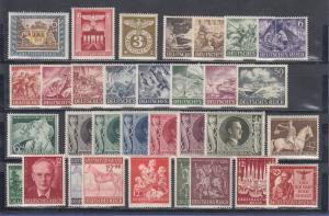 Deutsches Reich: alle Briefmarken des Jahrgangs 1943 komplett postfrisch **