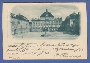 AK Ludwigsburg Corps de Logis,  gel. 1897