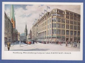 AK Werbung Karstadt Haus Hamburg Mönckebergstrasse , um 1960