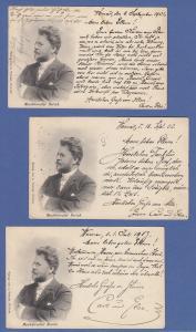 Thüringen Weimar, Musikdirektor Rorich, Set 3 AK gelaufen 1901, 02, 03  SELTEN !