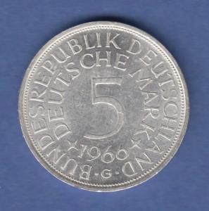 Bundesrepublik Kursmünze 5 Mark Silber-Adler 1966 G