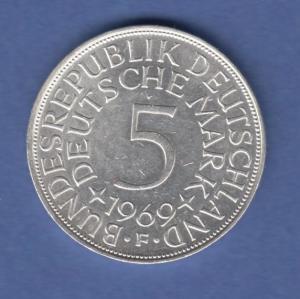 Bundesrepublik Kursmünze 5 Mark Silber-Adler 1969 F