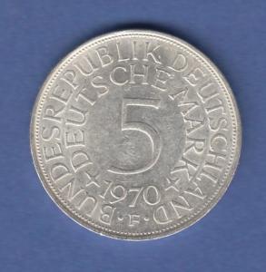 Bundesrepublik Kursmünze 5 Mark Silber-Adler 1970 F