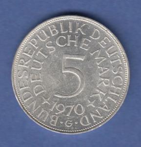 Bundesrepublik Kursmünze 5 Mark Silber-Adler 1970 G