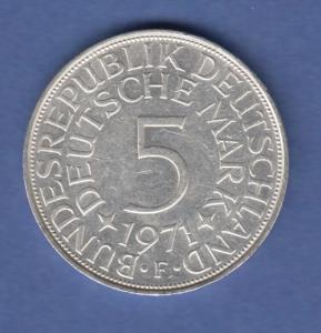Bundesrepublik Kursmünze 5 Mark Silber-Adler 1971 F
