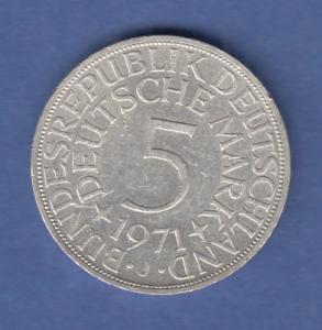 Bundesrepublik Kursmünze 5 Mark Silber-Adler 1971 J