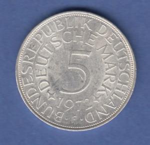 Bundesrepublik Kursmünze 5 Mark Silber-Adler 1972 F