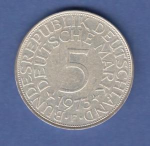 Bundesrepublik Kursmünze 5 Mark Silber-Adler 1973 F