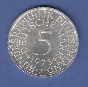 Bundesrepublik Kursmünze 5 Mark Silber-Adler 1973 J