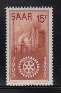 Saar 1955 Internationaler Rotary Club  Mi.-Nr. 358 **