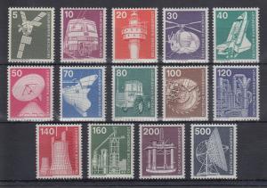 Bundesrepublik 1975 Freimarken Industrie und Technik  Mi.-Nr. 846-859 **
