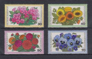 Bundesrepublik 1976 Wohlfahrt Gartenblumen  Mi.-Nr. 904-907 **